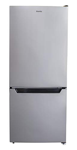 Danby DCR041C1BSLDB-6 4.1 Cu.Ft. Compact Refrigerator with Bottom-Mount Freezer, Ultra-Quiet Mini Fridge Perfect for Dorm, Apartment, or Basement in Stainless