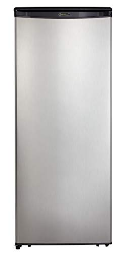 Danby DAR110A1BSLDD 11 Cu.Ft. Apartment Refrigerator in Fingerprint Free Finish, Full Fridge for Condo, House, Small Kitchen, E-Star Rated, Stainless Look