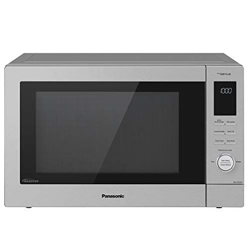 Panasonic HomeChef 4-in-1 Microwave Oven with Air Fryer, Convection Bake, FlashXpress Broiler, Inverter Microwave Technology, 1000W, 1.2 cu ft with Easy Clean Interior - NN-CD87KS (Stainless Steel)
