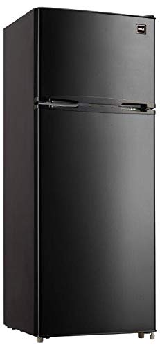 RCA RFR741-BLACK Apartment Size Large Compact Refrigerator, 7.5, Black