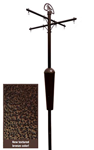 Squirrel Stopper Bronze Deluxe Squirrel Proof Pole System with Baffle - Ultimate Bird Feeder Garden Pole - Holds up to 8 Bird Feeders, Bird Houses, Windchimes and More