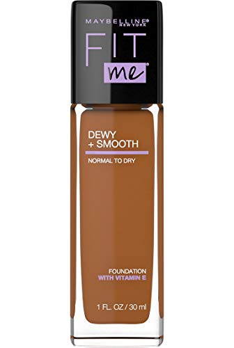 Maybelline New York Fit Me Dewy + Smooth Foundation, 360 Mocha, 1 Fl. Oz (Pack of 1) (Packaging May Vary)