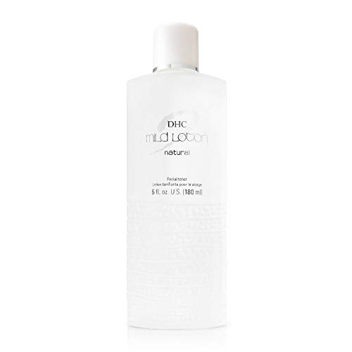DHC Mild Lotion, Hydrating Liquid Lotion, Moisturizing, Calm and Soothe Sensitive Skin, Alcohol-Free, Frangrance and Colorant Free, Ideal for Sensitive Skin, 6 fl. oz.