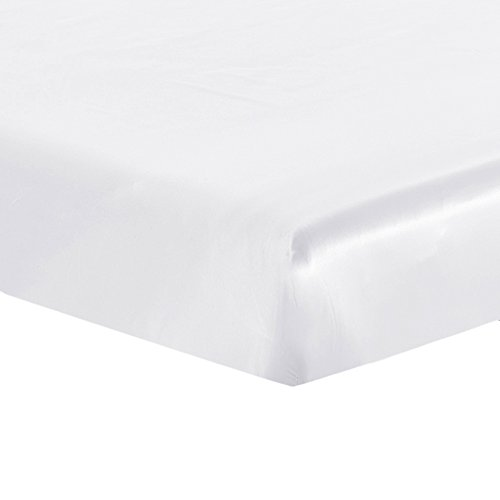 Lilysilk Luxury Mulberry Silk Fitted Sheet 19 Momme Seamless, Queen, White