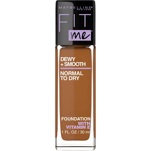 Maybelline New York Fit Me Dewy + Smooth Foundation, 360 Mocha, 1 Fl. Oz (Pack of 1) (Packaging May Vary),1210FMFD-360