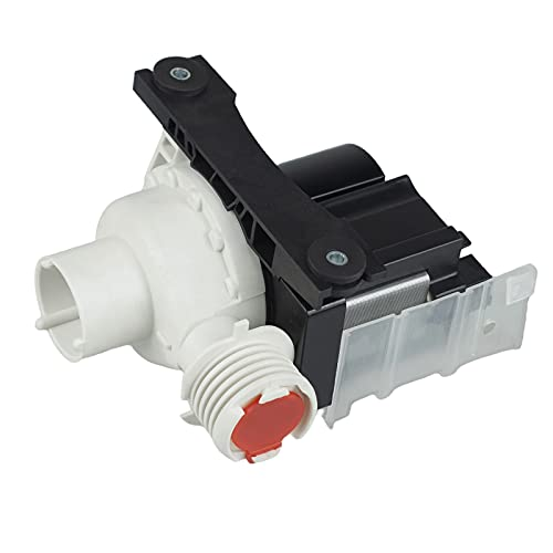 Techecook 137221600 Washer Drain Pump - Compatible with Ken-more Frigidaire Washing Machine - Replacement Part 134051200, 134740500, 137108100, 137151800, PS7783938