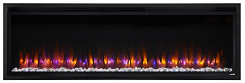 SIMPLIFIRE Allusion Platinum 60-Inch Electric Fireplace - SF-ALLP60-BK
