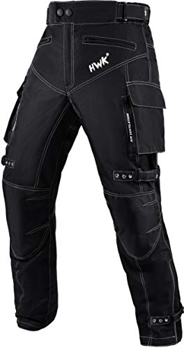 Motorcycle Pants for Men Dualsport Motocross Motorbike Pant Riding Overpants Enduro Adventure Touring Waterproof CE Armored All-Weather (Waist36''-38'' Inseam32'') Black