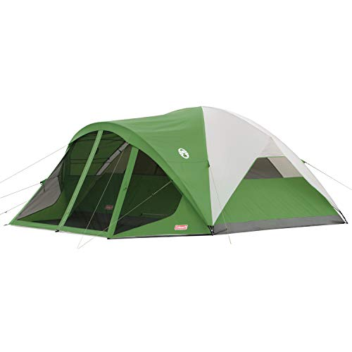 Coleman Camping Tent with Screen Room | 8 Person Evanston Dome Tent with Screened Porch