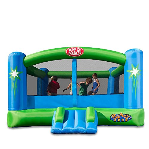 Blast Zone Big Ol Bouncer - Inflatable Bounce House with Blower - Huge - Premium Quality - Great For Events - Holds 6 Kids