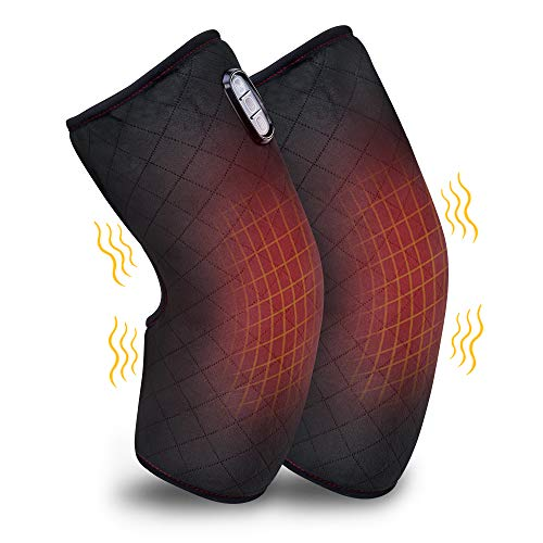 ComfIer Heated Knee Brace Wrap with Massage,Vibration Knee Massager with Heating Pad for Knee Fatigue ,Leg Massager,Heated Knee Pad for Arthritis Join Stress