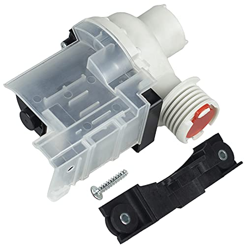 Techecook 137221600 Washer Drain Pump (365-DAYS WARRANTY) - Compatible with Ken-more Frigidaire Washing Machine - Replacement Part 134051200, 134740500, 137108100, 137151800, PS7783938