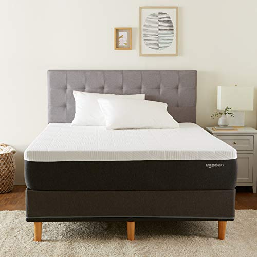 Amazon Basics Cooling Gel Infused Latex-Feel Mattress - Firm Support - CertiPUR-US Certified - 12 inch, King