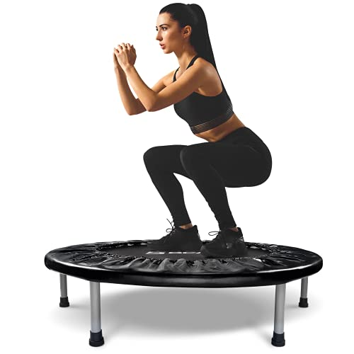 BCAN Mini Trampoline for Adults Exercise Rebounder Indoor Trampoline for Kids 38 Inch Small Trampoline Foldable Workout Trampoline Folding Fitness Trampoline Max 300 LBS