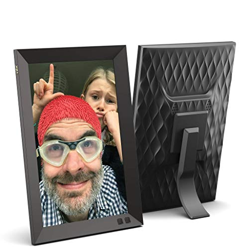 NIX 10.1 Inch Digital Picture Frame (Non-WiFi) - Portrait or Landscape Stand, HD Resolution, Auto-Rotate, Remote Control - Mix Photos and Videos in The Same Slideshow