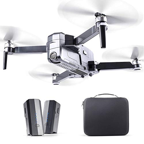 Ruko F11 Pro Drones with Camera for Adults 4K UHD Camera Live Video 30 Mins Flight Time with GPS Return Home Brushless Motor-Black(1 Extra Battery + Carrying Case)