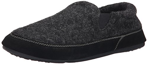 Acorn Men's Fave Gore Slipper, Black Tweed, 7.5-8.5