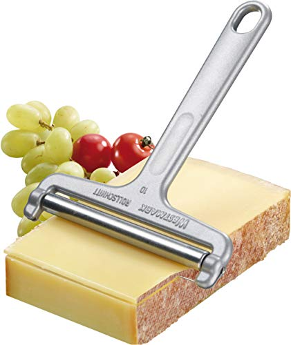 Westmark Germany Heavy Duty Stainless Steel Wire Cheese Slicer Angle Adjustable (Grey),7' x 3.9' x 0.2' -