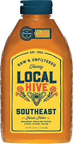 Local Hive, Raw Honey, Pure and Unfiltered, Local Southeast Beekeepers, 40oz