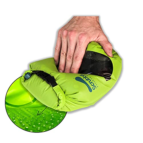 Scrubba Mini Portable Wash Bag – Ultra Light Hand Washing Machine for Hotel and Travel Wash – Smallest Eco-Friendly Camping Laundry Bag for Washing Clothes Anywhere