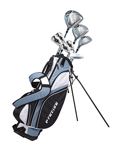 Precise NX460 Ladies Womens Complete Golf Clubs Set Includes Driver, Fairway, Hybrid, 4 Irons, Putter, Bag, 3 H/C's - 2 Sizes - Regular and Petite Size! (Right Hand Petite Size 5'3' and Below)