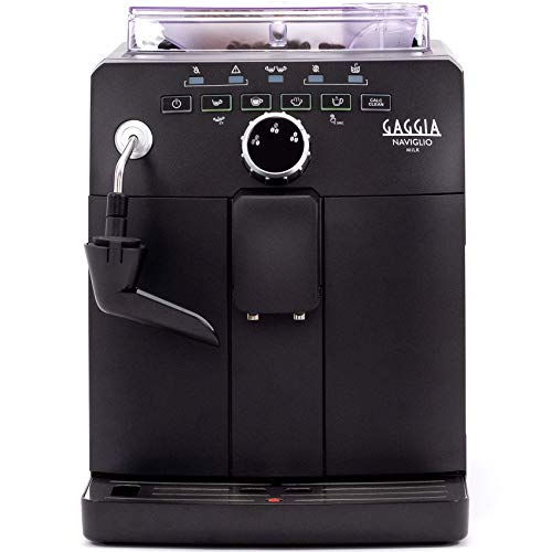 Gaggia Naviglio Milk One-Touch Cappuccino and Espresso Machine, Black, 17.3' d x 13.4' h x 10' w