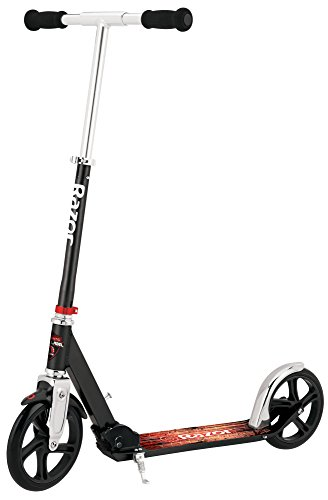 Razor A5 Lux Kick Scooter - Large 8' Wheels, Foldable, Adjustable Handlebars, Lightweight, for Riders up to 220 lbs