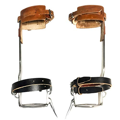 TOMCHY Tree Climbing Spikes Non-Slip Tree Climbing Spurs Like Boots Suitable for High-Altitude Logging Fruit Picking Outdoor Hunting(1 Pair)