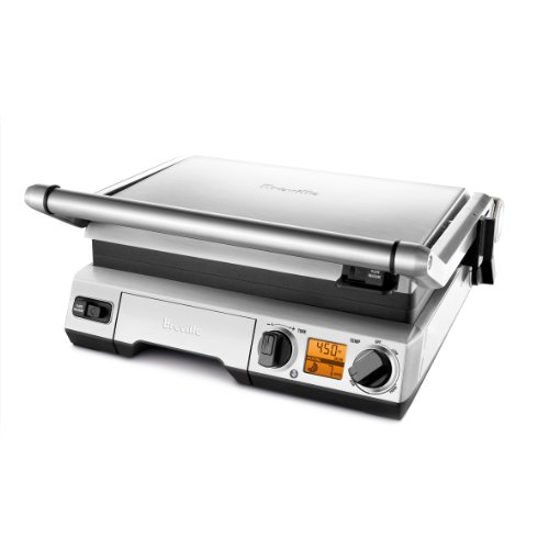 Breville BGR820XL Smart Grill, Electric Countertop Grill, Brushed Stainless Steel.