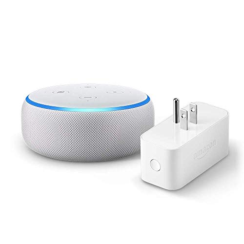 Echo Dot (3rd Gen) bundle with Amazon Smart Plug - Sandstone