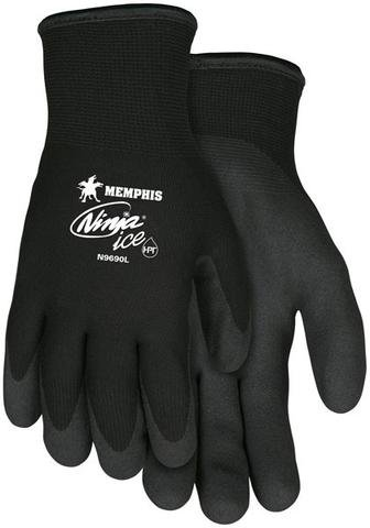 MCR Safety N9690 Memphis Ninja Ice 15-Gauge Safety Gloves, Black (Medium) New