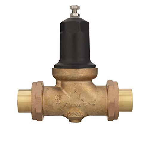 Zurn Wilkins 1-1/4' NR3XL Pressure Reducing Valve with double union FNPT connection and FC (cop/ sweat) union connection