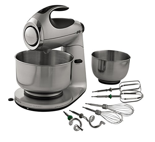 Sunbeam FPSBSM2103-BND Heritage Series 12-Speed 350-watt Stand Mixer Bundle with Bowl, 2.2-Quart and 4.6-Quart, Silver