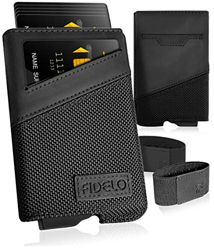 FIDELO Minimalist Wallets Card Wallet - Hybrid RFID Wallets for Men Slim Wallet