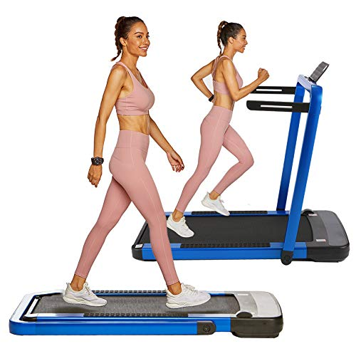 OppsDecor Under Desk Treadmill 2in1 Pad Treadmill Folding Electric Treadmill Remote Control Walking Running Machine with APP for Home Office Workout Indoor Exercise Machine