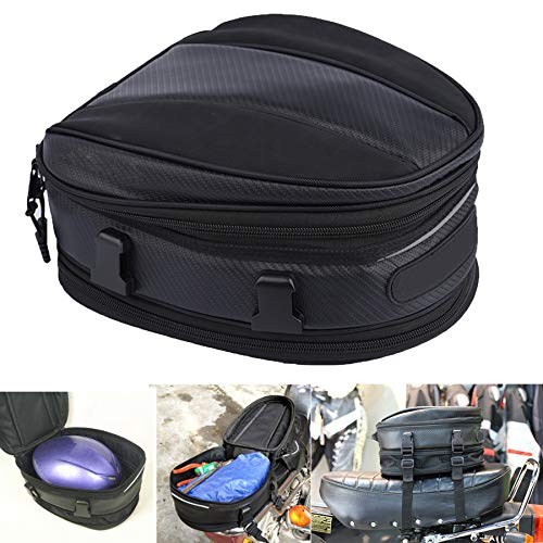 Motorcycle Tail Bag Waterproof Bag Motorbike Saddle Bag Motorcycle Backpack Waterproof Multifunctional Luggage Bags Expandable Backpack PU Leather for Universal Fit