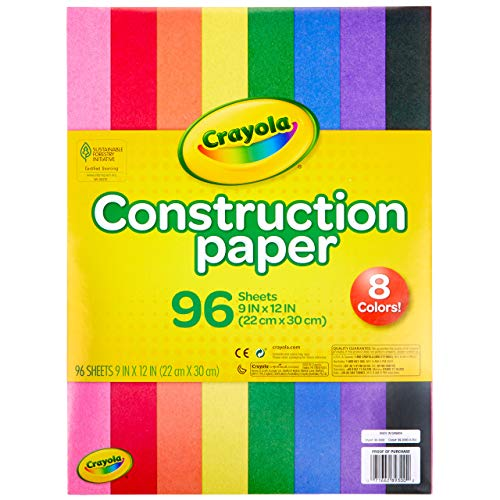 Crayola Construction Paper, Assorted Colors, 96 Count