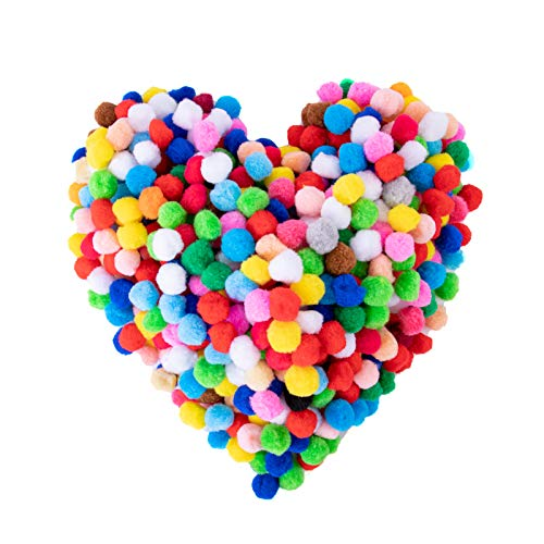 Yecho Premium 300 PCS 1 Inch Assorted Pom Poms, Craft Pom Pom Balls, Colorful Pompoms for DIY Creative Crafts Decorations, Kids Craft Project, Home Party Holiday Decorations