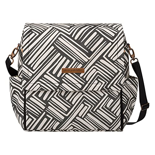 Petunia Pickle Bottom Boxy Backpack | Diaper Bag | Diaper Bag Backpack for Parents | Top-Selling Stylish Baby Bag | Sophisticated and Spacious Backpack for On The Go Moms | Brushes