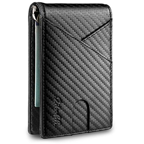 Zitahli Slim Mens Wallets RFID Minimalist Front Pocket Wallet with Money Clip
