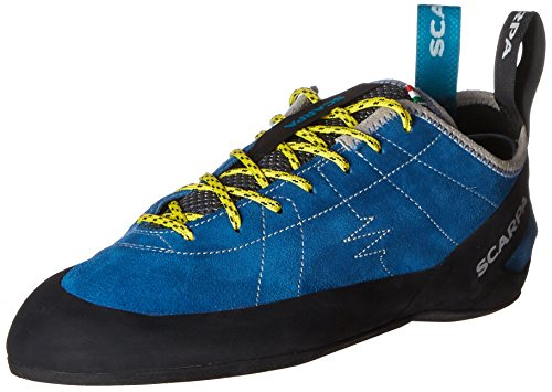 SCARPA Men's Helix Lace Rock Climbing Shoes for Trad and Sport Climbing - Hyper Blue - 6.5