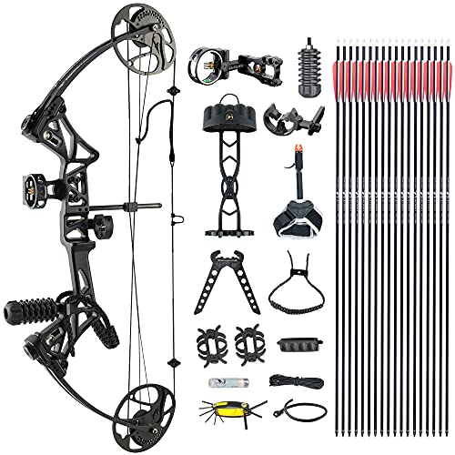 """Compound Bow TopointArchery Package,M1,19""""-30"""" Draw Length,19-70Lbs Draw Weight,320fps IBO Limbs Made in USA"""