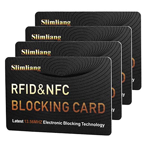 RFID Blocking Card, Fuss-Free Protection Entire Wallet & Purse Shield, Contactless NFC Bank Debit Credit Card Protector Blocker (Gold)