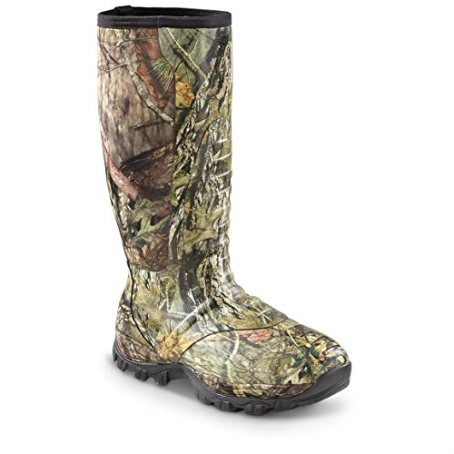Guide Gear Men's Wood Creek Insulated Rubber Hunting Boots, Camo Pattern, 1000-gram Thinsulate Ultra, Mossy Oak Break-Up Country, 7D (Medium)
