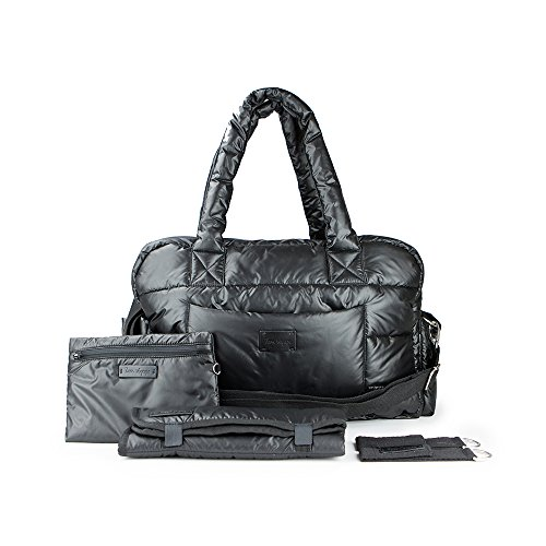 7AM Voyage Diaper Bag – SoHo Satchel Large & Compact Waterproof Multifunctional Newborn & Toddler Diaper Bag, Gym Bag & Travel Bag with Padded Straps, Includes Changing Pad & Stroller Straps