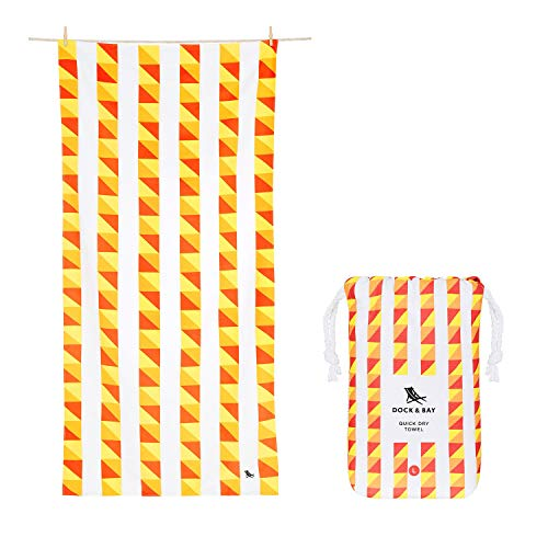 Dock & Bay Compact Travel Towels for Swim - Tomatina, Large (160x80cm, 63x31) - for Beach, Swimming and Travel