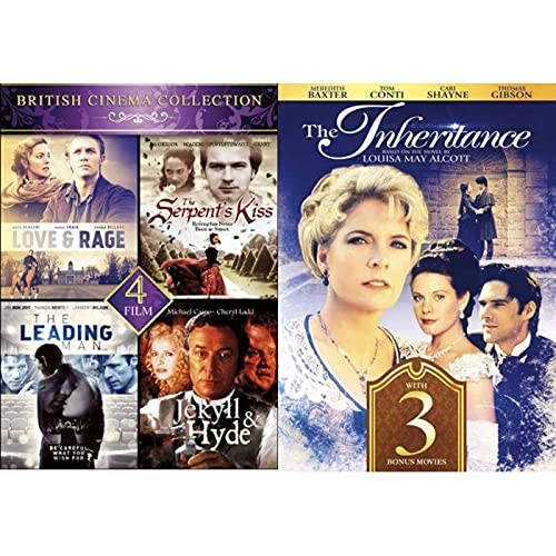 8 British Cinema Collection (Love and Rage / Serpents Kiss / Leading Man / Jekyl And Hyde / The Inheritance / David Copperfield / Scrooge / Oliver Twist) Michael Caine, Meredith Baxter, Tom Conti