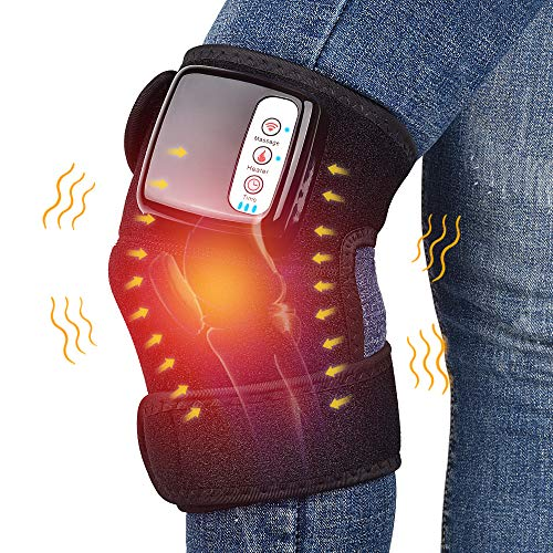 Wireless Heating Knee Pads Knee Massager for Pain Relief Heated Vibration Knee Brace Wrap Heating Massage for Arthritis - Single One
