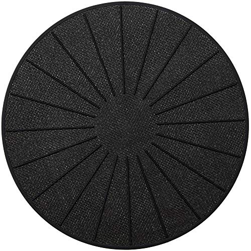 Lazy K Induction Cooktop Mat - Silicone Fiberglass Magnetic Cooktop Scratch Protector - for Induction Stove - Non slip Pads to Prevent Pots from Sliding during Cooking (11 inches) Black