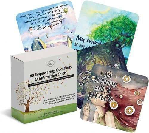 60 Affirmation Cards with Empowering Questions